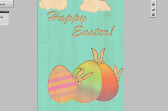how to create vintage styled Easter card