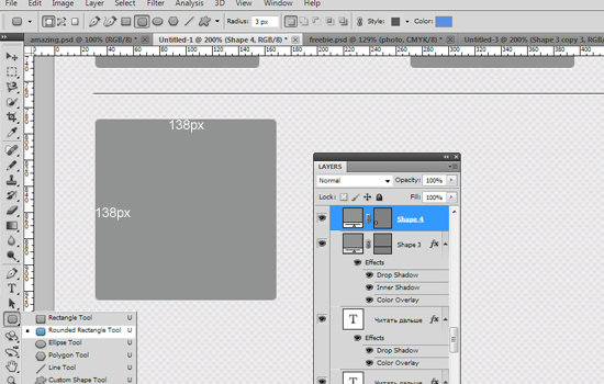 Clean Website Layout in Photoshop