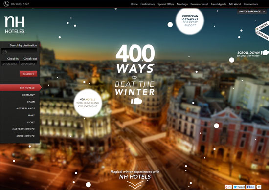 Parallax scrolling in Web Design: 20 Awesome Parallax Websites ...