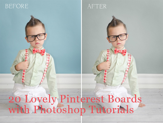20 Lovely Pinterest Boards with Photoshop Tutorials