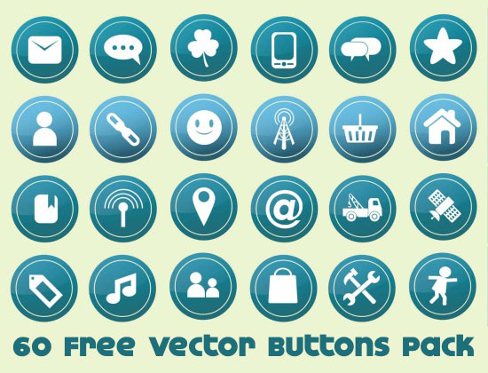 Free Vector Buttons Pack