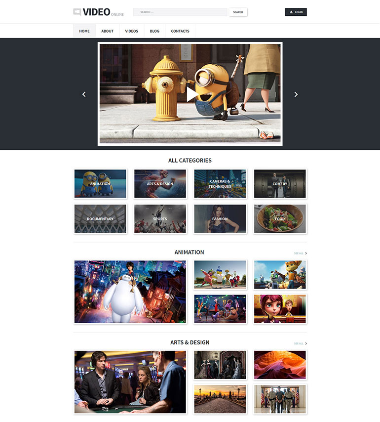 20 Coolest Movie Templates | Web Template Customization