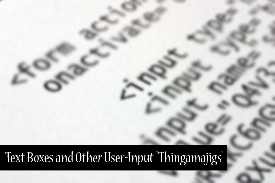 "HTML for Beginners: Text Boxes and Other User-Input ""Thingamajigs"""
