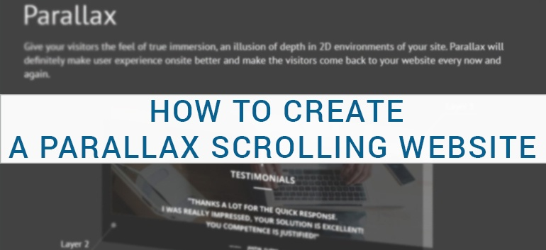 How To Create A Parallax Scrolling Website