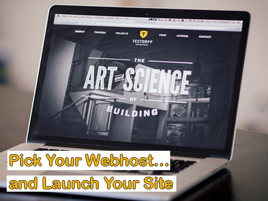 Pick Your Webhost and Launch Your Site (The Step-by-Step Process of Making a Website)