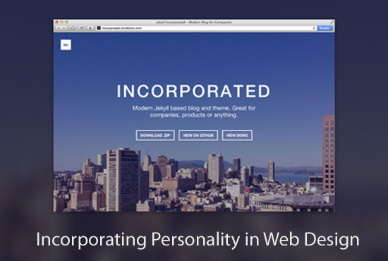Incorporating Personality in Web Design