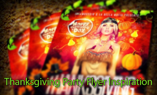 Thanksgiving Party Flyer Inspiration