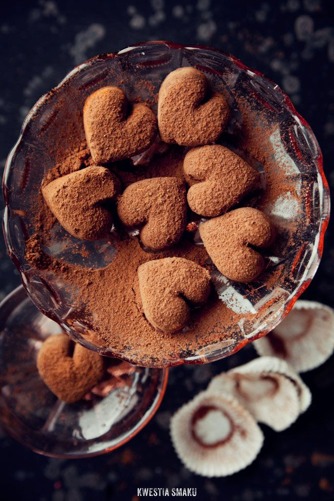 chocolate heart truffles