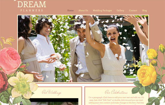 free Wedding Wix Templates