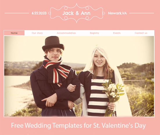 Free Wedding Templates for St. Valentine's Day