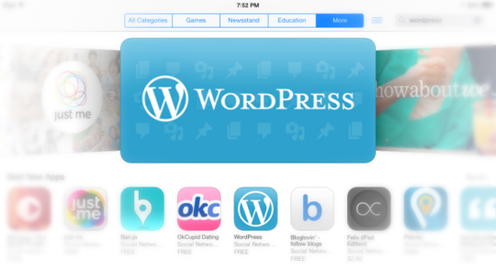 WordPress and iOS 7
