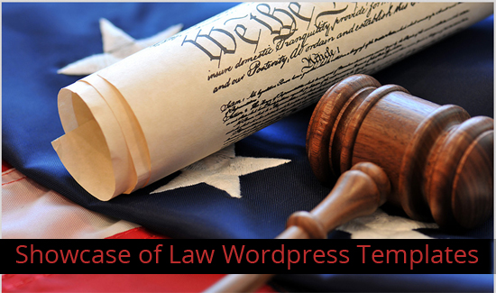 Showcase of Law WordPress Templates