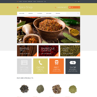 Spice Shop Responsive OpenCart Template