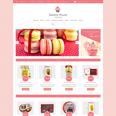 Sweet Shop Responsive OpenCart Template