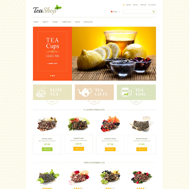 Tea Shop Responsive Jigoshop Theme