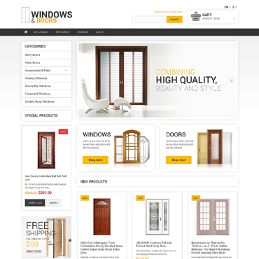 Minimal Windows and Doors Magento Theme