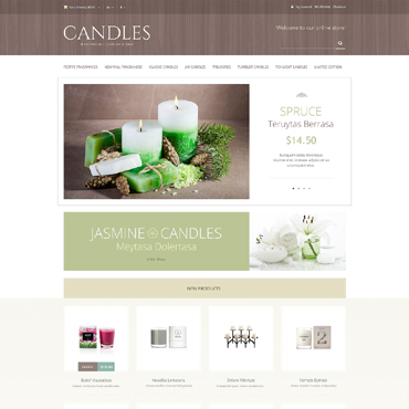 Handmade Candles Magento Theme