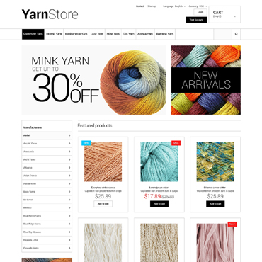 Yarn Store PrestaShop Theme