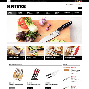 The Sharpest Knives OsCommerce Template