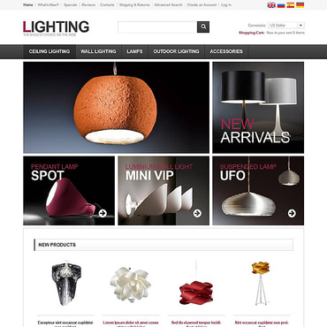 Lighting Solutions OsCommerce Template