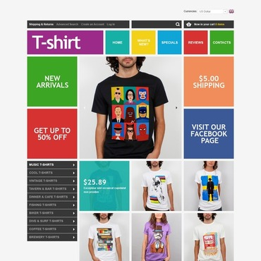 The Coolest T-Shirts OsCommerce Template