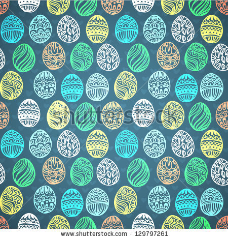 Happy easter background. easter egg. seamless vector pattern for your design