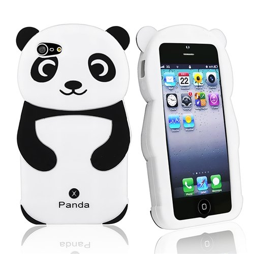 HHI Silicone Skin Case for iPhone 5 - Black Panda