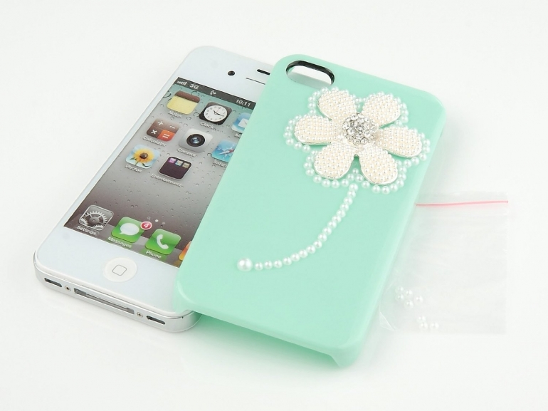 Nova Case 3D Crystal iPhone Case Verizon Sprint Apple iPhone 4/4S Sunflower Baby Green