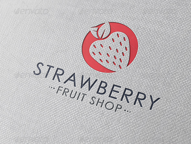food logo Strawberry Logo