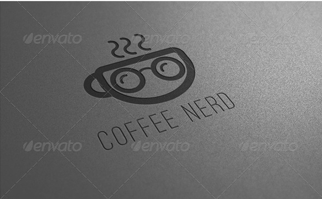 food logo Coffee Nerd Logo Template