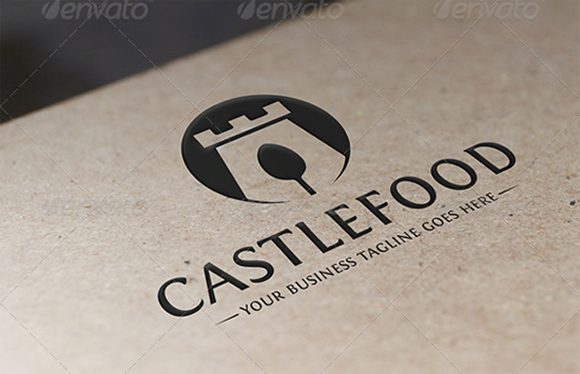 Castle Food Logo Template