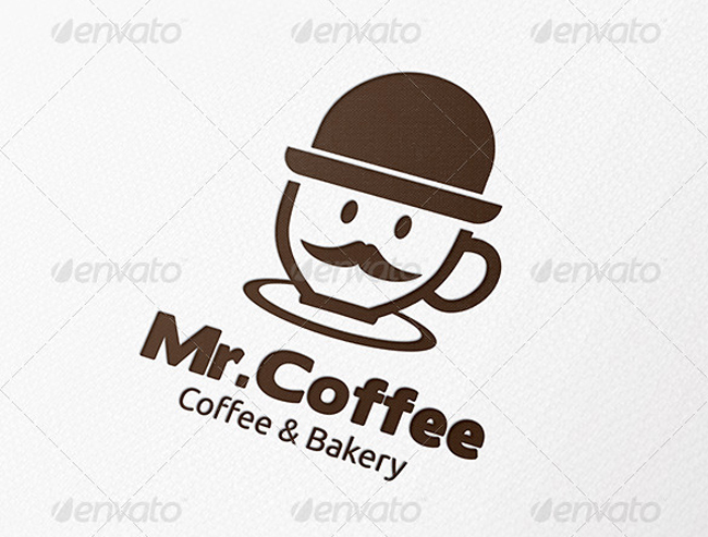 food logo Mister Coffee Logo