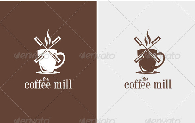 food logo Coffee Mill
