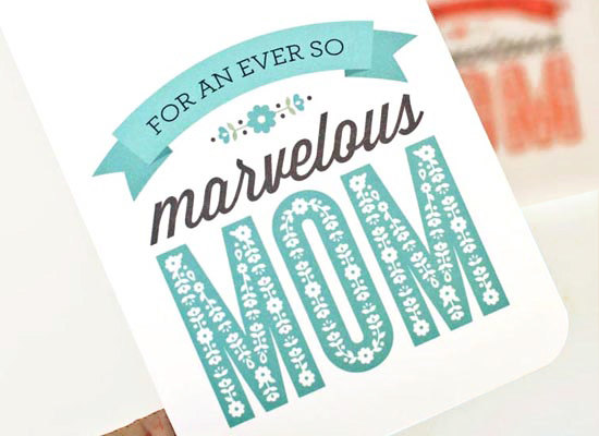 Mother's Day Card, Greeting Card for Mom // MARVELOUS MOM