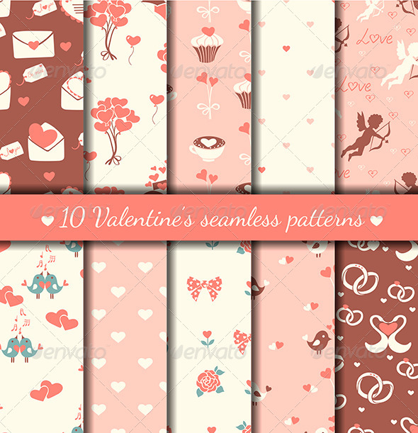 Valentine's Seamless Patterns