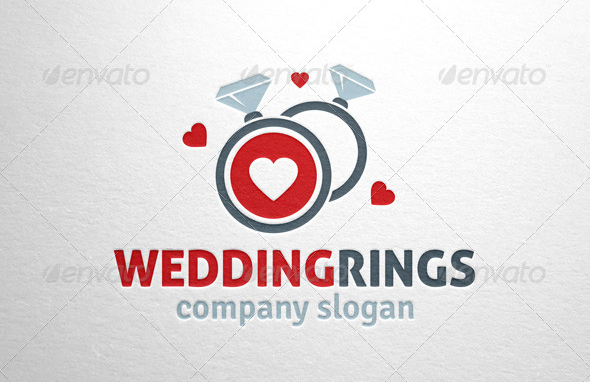 Wedding Rings Logo Template