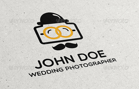 Retro Wedding Photographer Logo