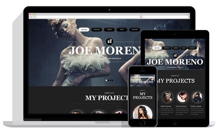 Professional Photographer Portfolio Joomla Template