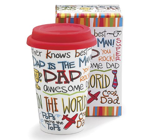Travel Mug Dad - Awesome Dad, You Rock, Dad Is the Man!