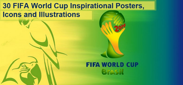 30 FIFA World Cup Inspirational Posters, Icons and Illustrations