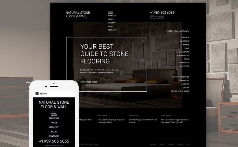 Natural Stone Floor Wall Joomla Template