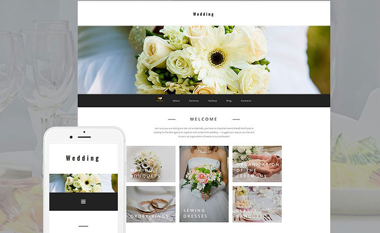 Wedding  Moto CMS 3 Template