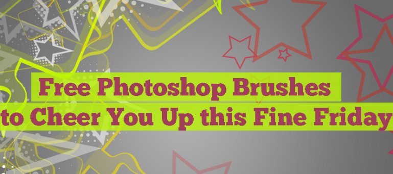 Free Photoshop Brushes to Cheer You Up this Fine Friday