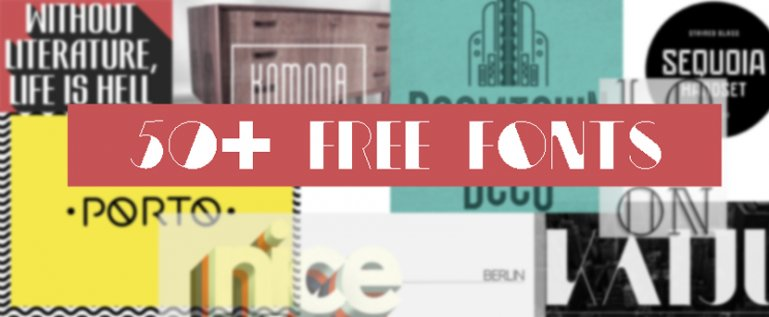 50+ Amazingly Free Fonts for Inspiration (and Use)