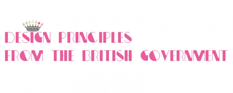 Design Principles from the British Government