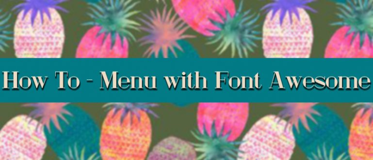 How To - Menu with Font Awesome