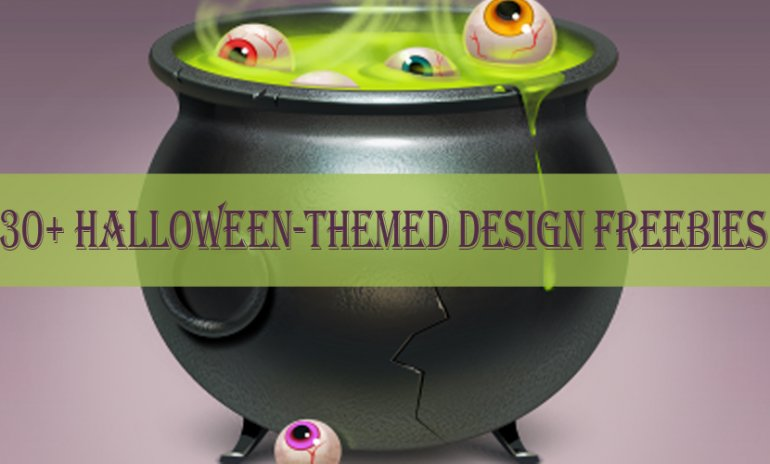 30+ Halloween-Themed Design Freebies