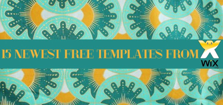 15 Newest FREE Templates from Wix
