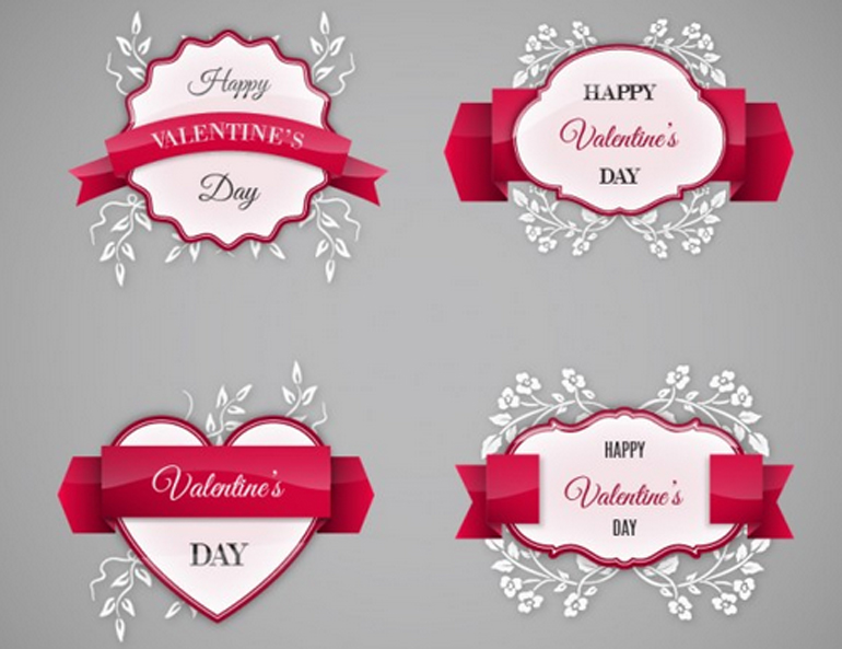 50 Free Vectors for Valentines Day – Valentine Day Label
