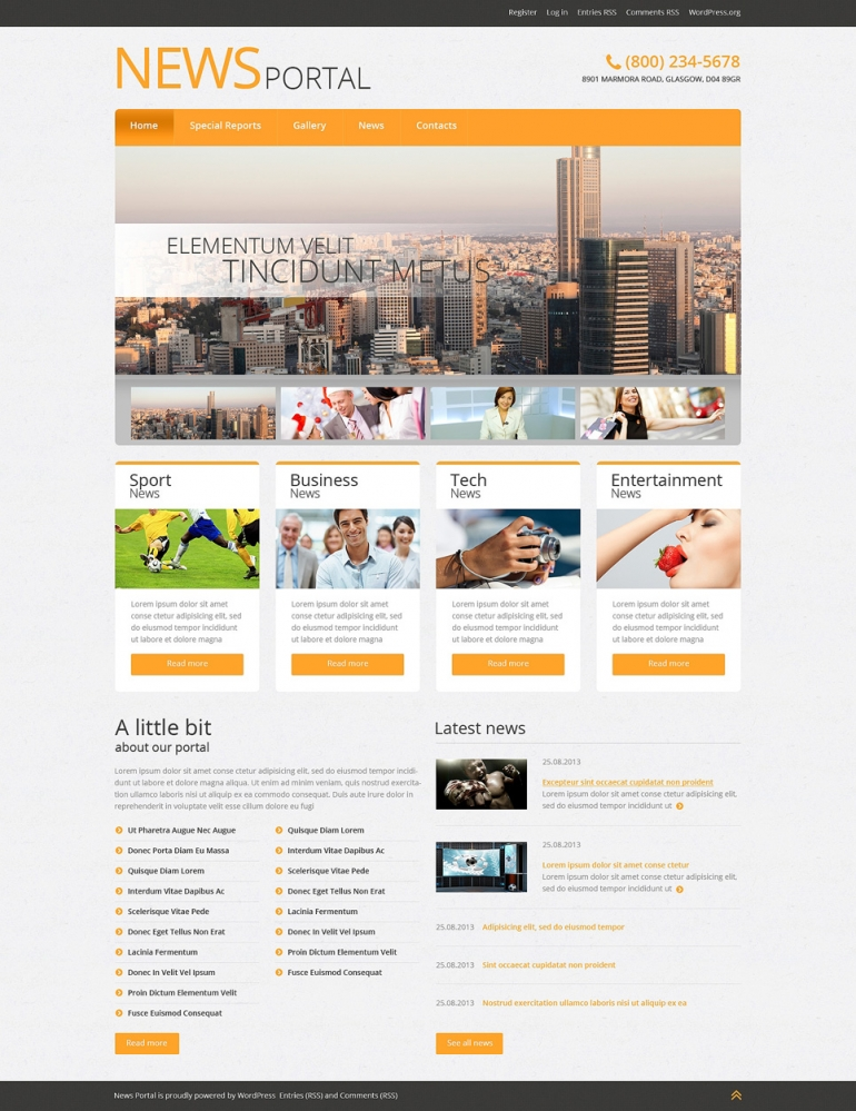 Top 40 off the shelf wordpress themes for business web template news portal wordpress theme cheaphphosting Image collections